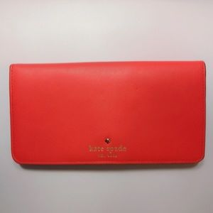 Kate Spade Bright Red Long Wallet